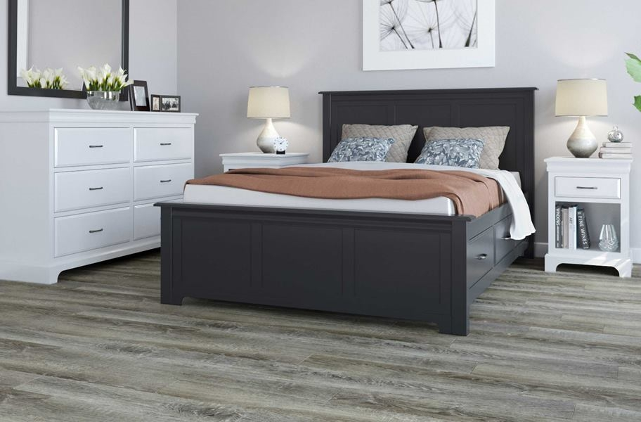 Gray Bedroom Flooring: New Standard 2 Rigid Core Vinyl Planks