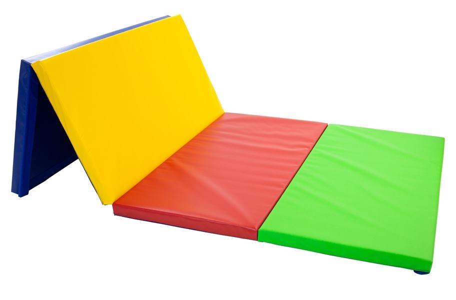 Beginner tumbling mat on a white background