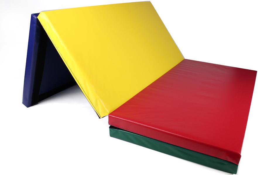 Rainbow folding panel mat for gymnastics